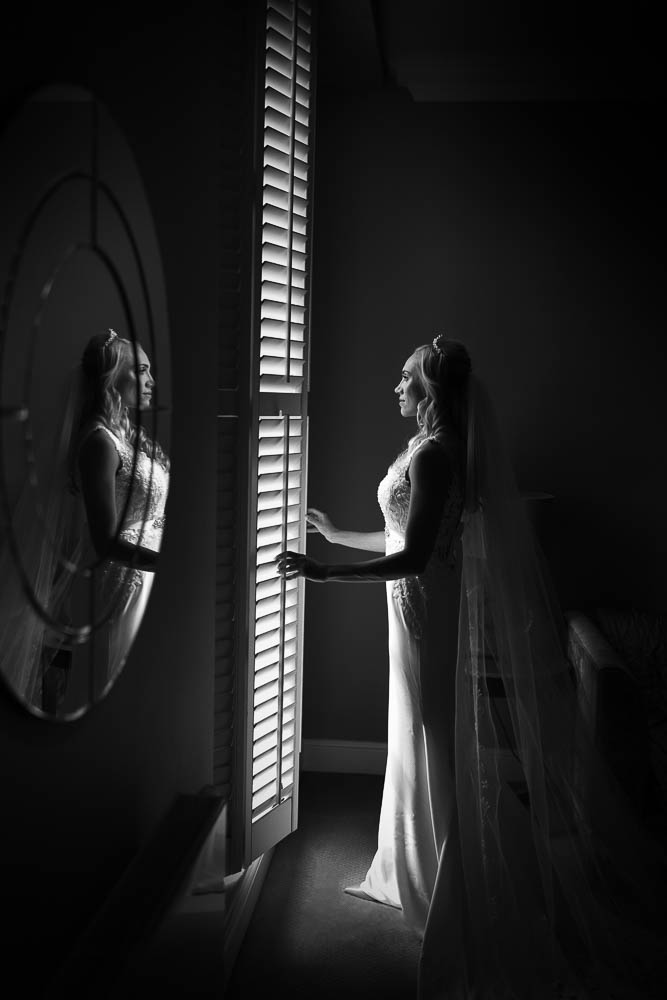 Bridal portrait at kings arms hotel christchurch