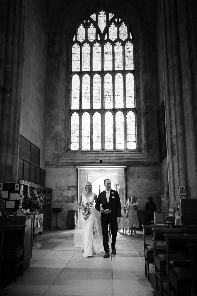 christchurch priory wedding photo