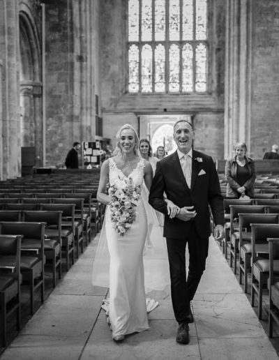 christchurch priory wedding photo