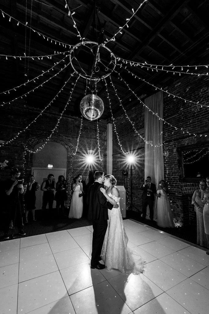 First dance at a highcliffe castle wedding