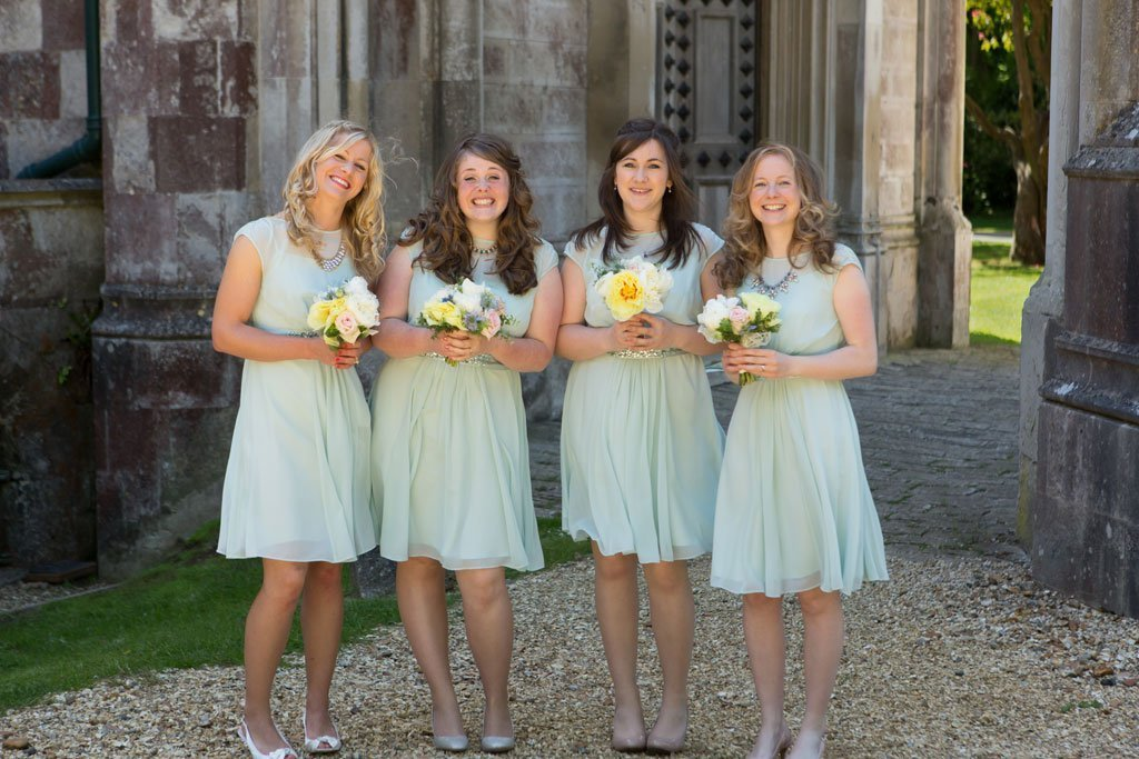 excited brides at a Highcliffe castle wedding