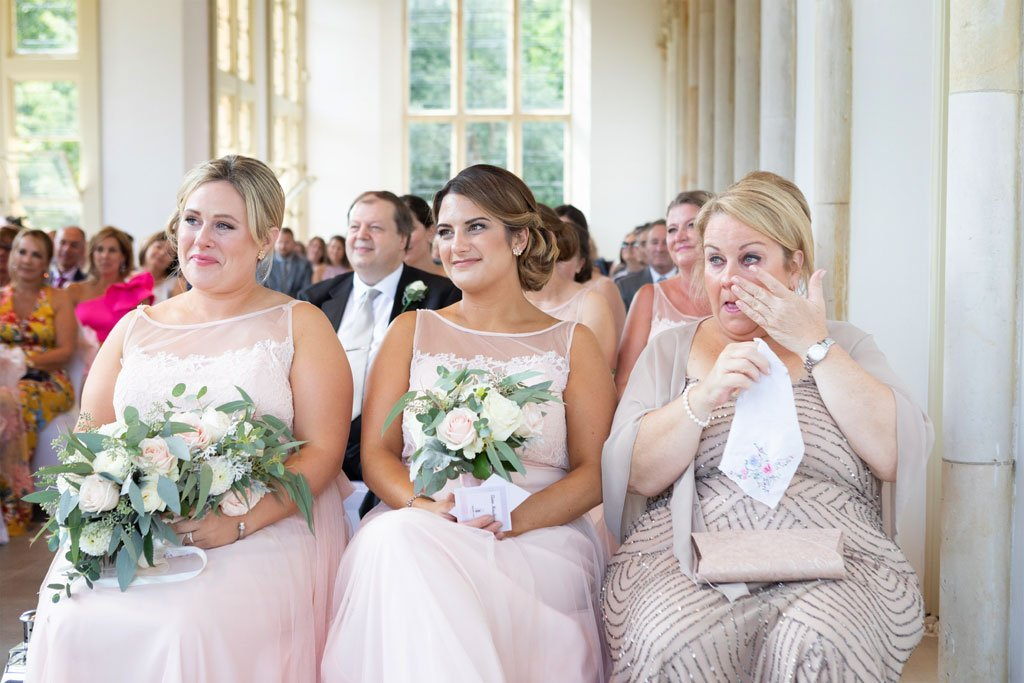 Tears at a wedding at Highcliffe castle